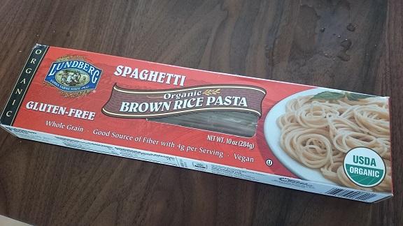 【Lundberg】の玄米スパゲッティー食べてみました